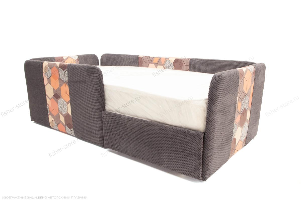 Двуспальный диван Экзотика Citus Grafit + Geometry Brown Спальное место