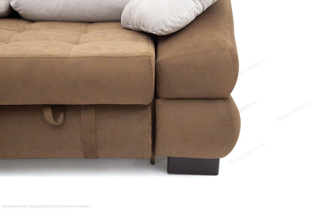 Угловой диван Премиум Medly Chocolate + Medly Bone Ножки