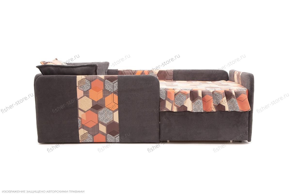 Двуспальный диван Экзотика Citus Grafit + Geometry Brown Вид спереди
