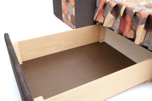 Двуспальный диван Экзотика Citus Grafit + Geometry Brown Ящик для белья