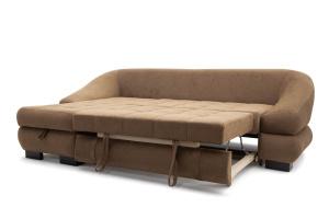 Угловой диван Премиум Medly Chocolate + Medly Bone Спальное место
