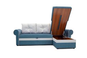Угловой диван Олимп Maserati Blue + Maserati White Ящик для белья