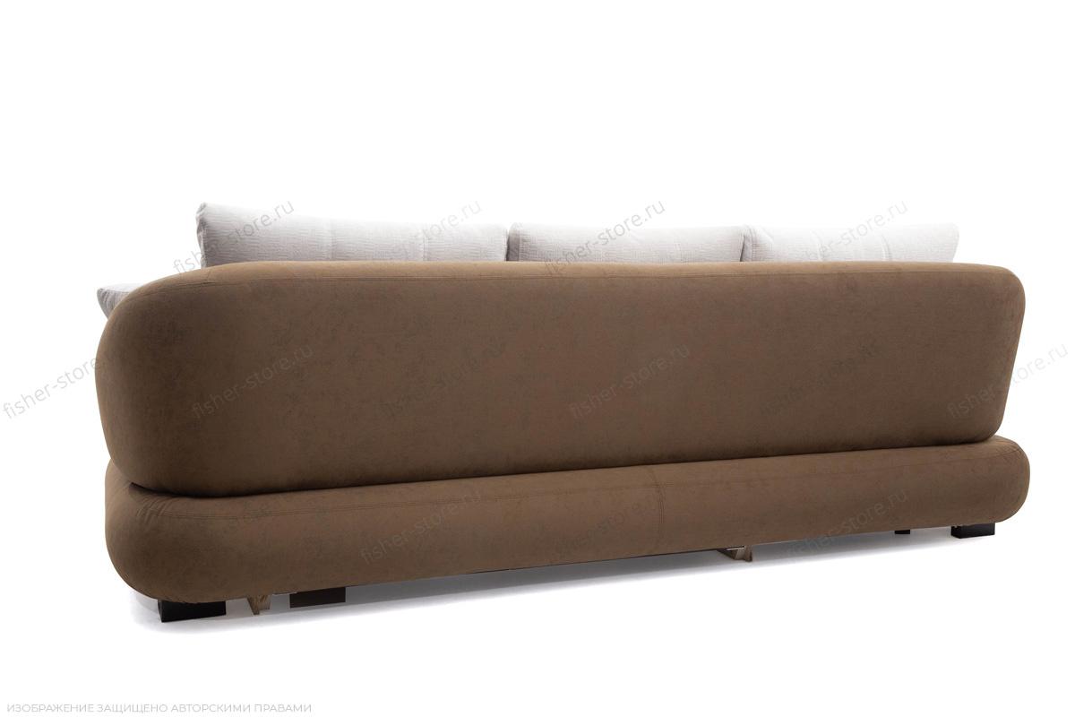 Угловой диван Премиум Medly Chocolate + Medly Bone Вид сзади