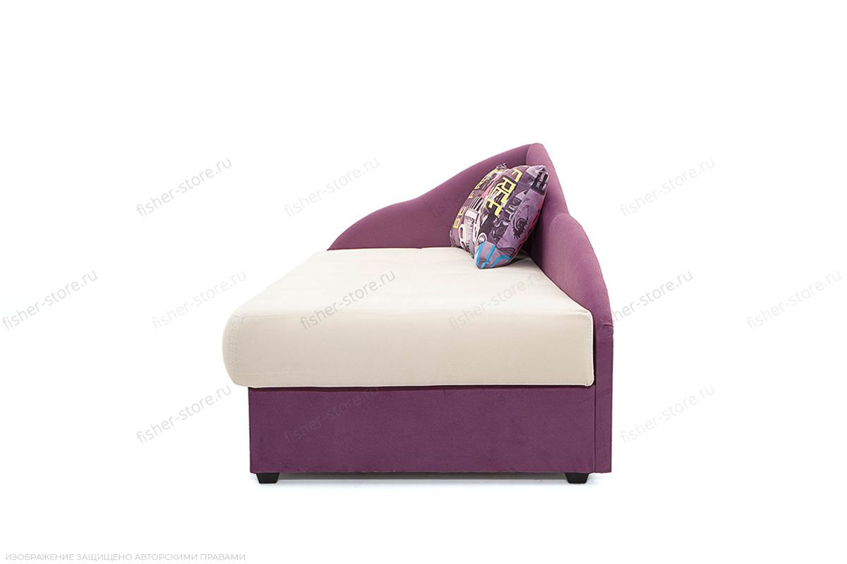 Двуспальный диван Лотос Amigo Bone + Maserati Purple Вид сбоку