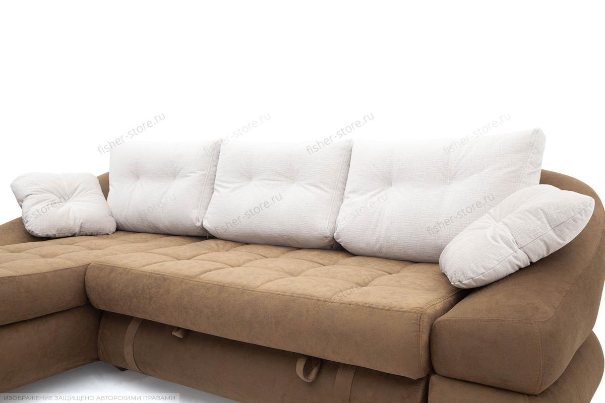 Угловой диван Премиум Medly Chocolate + Medly Bone Подушки