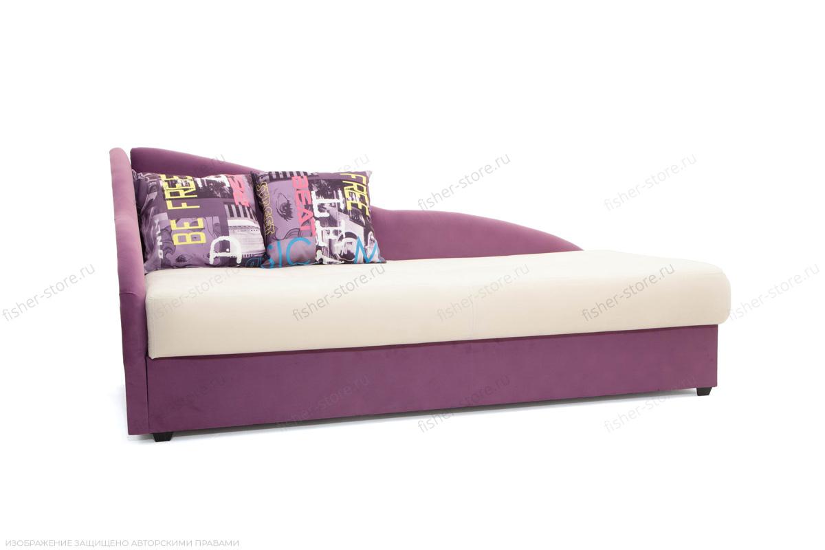 Двуспальный диван Лотос Amigo Bone + Maserati Purple Вид по диагонали