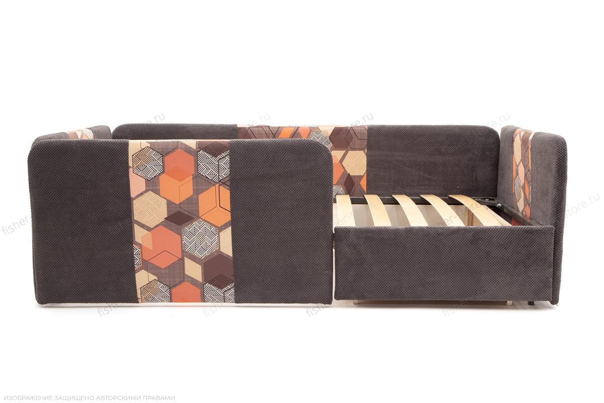 Двуспальный диван Экзотика Citus Grafit + Geometry Brown Механизм