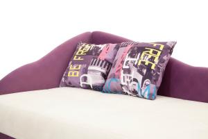 Двуспальный диван Лотос Amigo Bone + Maserati Purple Подушки