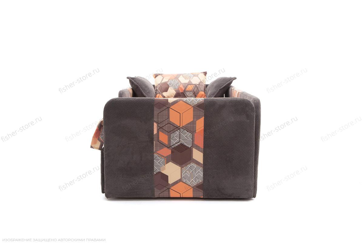 Двуспальный диван Экзотика Citus Grafit + Geometry Brown Вид сбоку