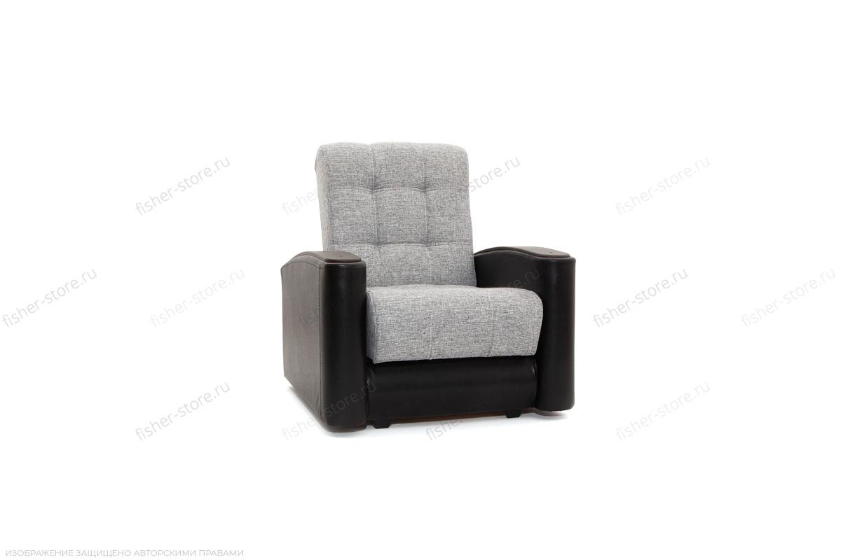 Кресло Вито-3 Big Grey + Sontex Black Вид по диагонали