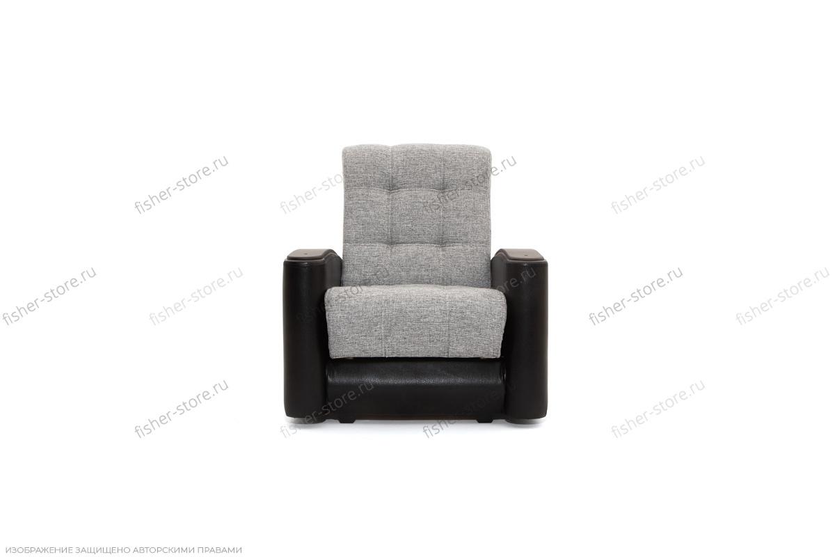 Кресло Вито-3 Big Grey + Sontex Black Вид спереди