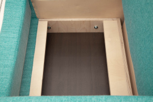 Кресло кровать Гольф (60) Orion Blue Ящик для белья