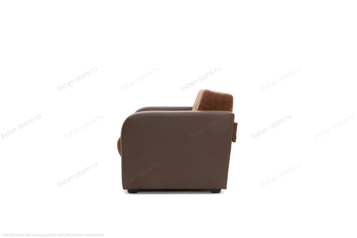 Кресло Вестерн Lite Brown + Astor Coffe Вид сбоку