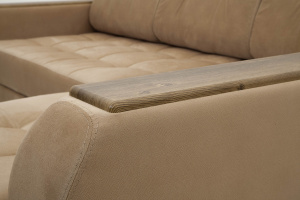 Угловой диван Берлин-3 Maserati Light Brown Подлокотник