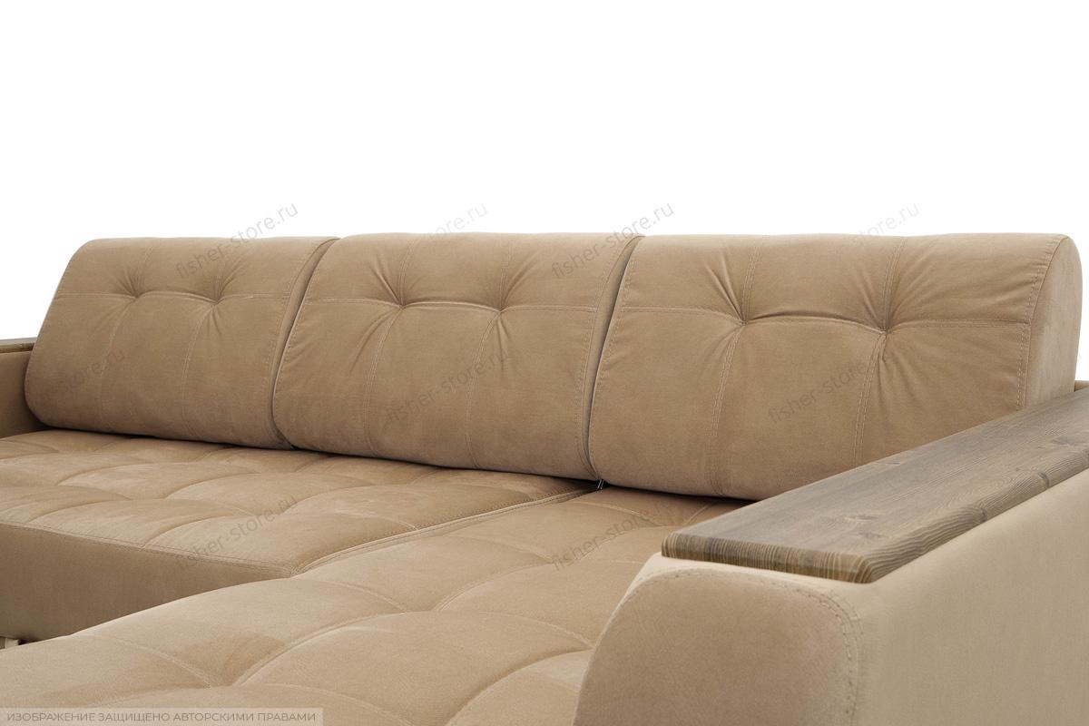 Угловой диван Берлин-3 Maserati Light Brown Подушки