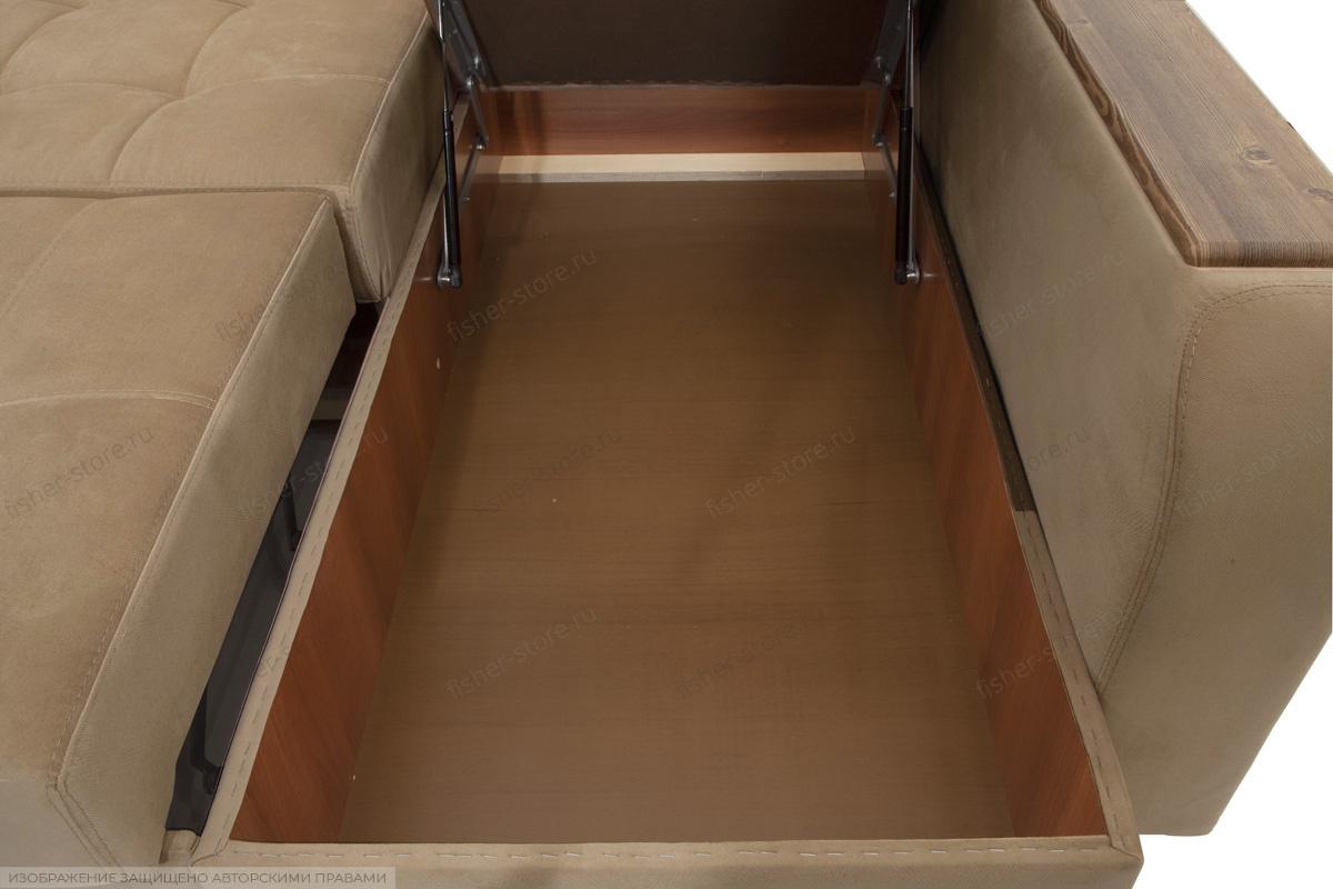 Угловой диван Берлин-3 Maserati Light Brown Ящик для белья