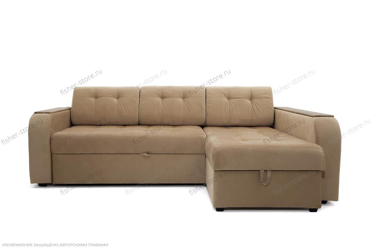 Угловой диван Берлин-3 Maserati Light Brown Вид спереди