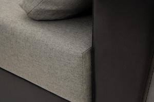 Прямой диван Амстердам эконом Dream Grey + Sontex Black Текстура ткани