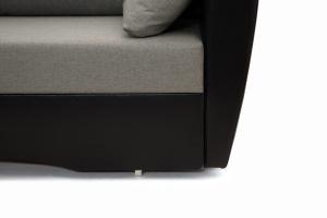 Прямой диван Амстердам эконом Dream Grey + Sontex Black Ножки