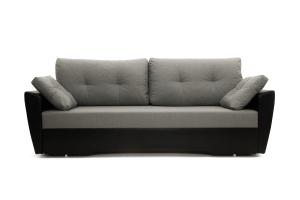 Прямой диван Амстердам эконом Dream Grey + Sontex Black Вид спереди