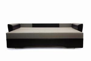 Прямой диван Амстердам эконом Dream Grey + Sontex Black Спальное место
