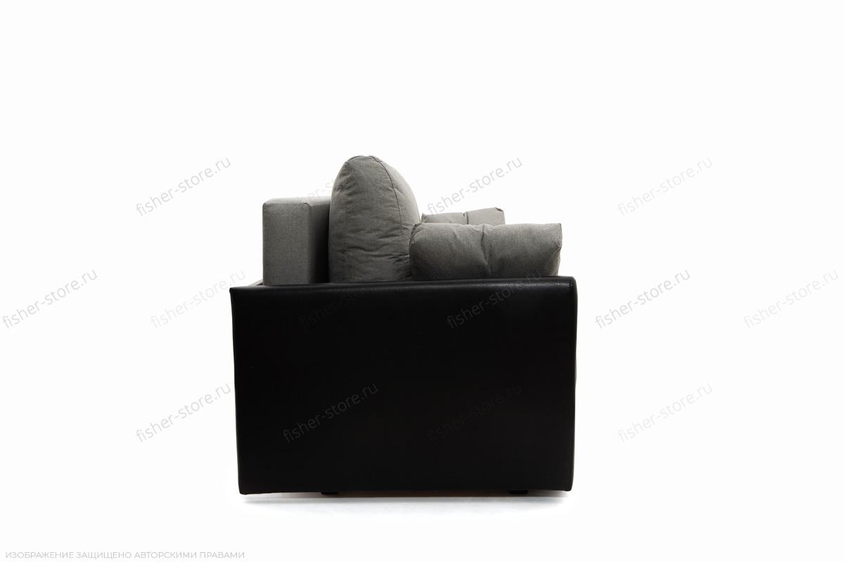 Прямой диван Амстердам эконом Dream Grey + Sontex Black Вид сбоку