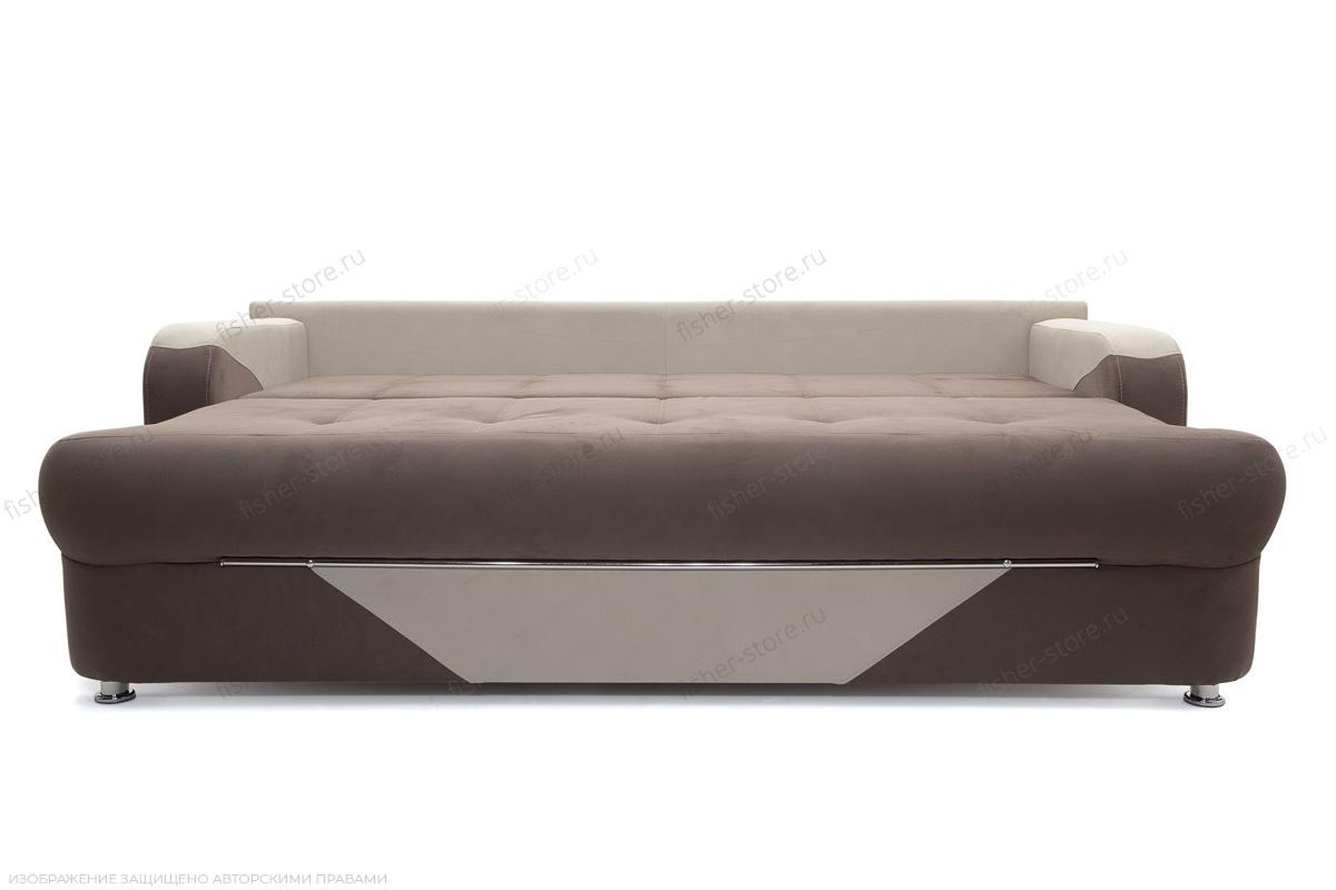 Прямой диван еврокнижка Эдем Amigo Chocolate + Amigo Cream Спальное место
