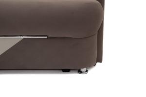 Прямой диван еврокнижка Эдем Amigo Chocolate + Amigo Cream Ножки