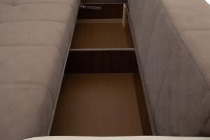 Прямой диван Эдем Amigo Chocolate + Amigo Cream Ящик для белья