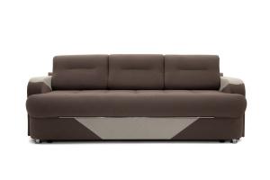Прямой диван Эдем Amigo Chocolate + Amigo Cream Вид спереди