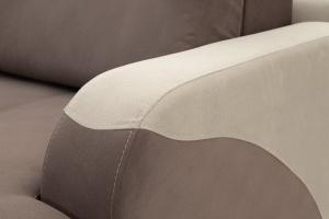 Прямой диван Эдем Amigo Chocolate + Amigo Cream Подлокотник