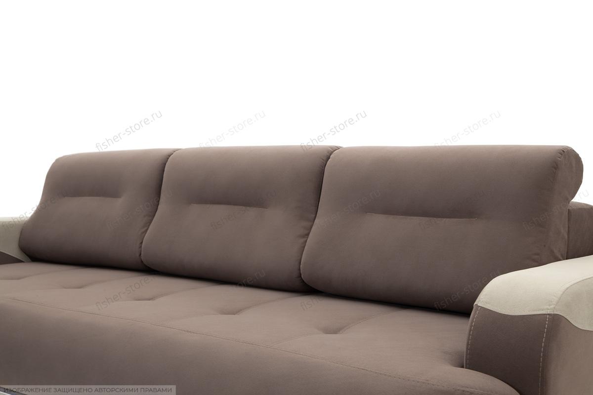 Прямой диван еврокнижка Эдем Amigo Chocolate + Amigo Cream Подушки