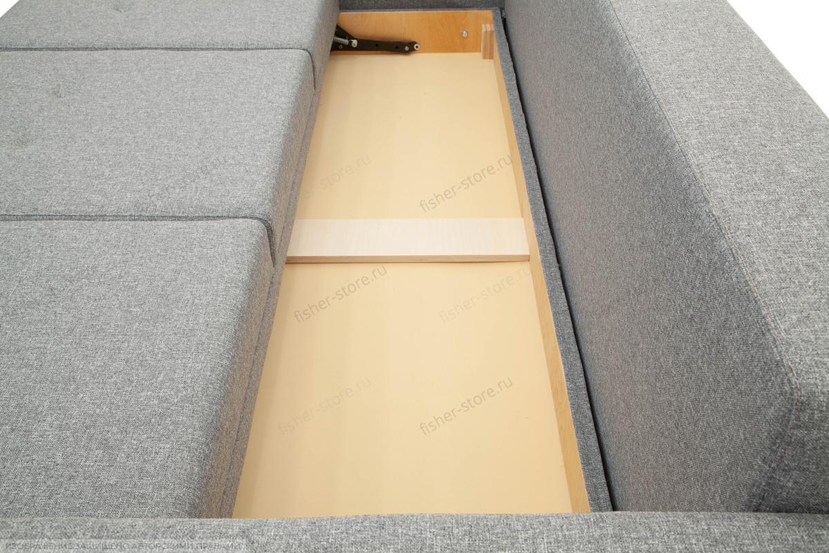 Прямой диван Марис с опорой №2 Baltic Grey Ящик для белья