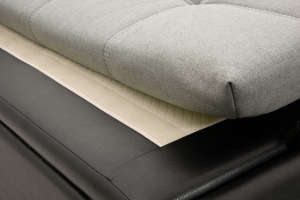 Угловой диван Модерн Dream Light grey + Sontex Black Текстура ткани