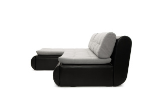Угловой диван Модерн Dream Light grey + Sontex Black Вид сбоку