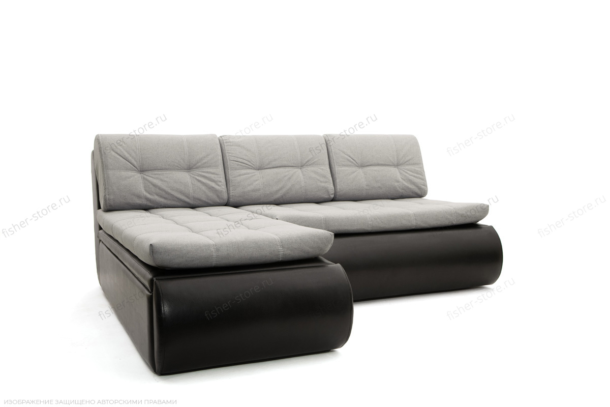 Угловой диван Модерн Dream Light grey + Sontex Black Вид по диагонали