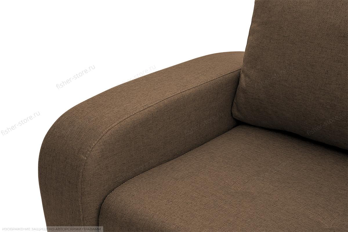 Прямой диван Селена Рогожка Dream Brown Подлокотник