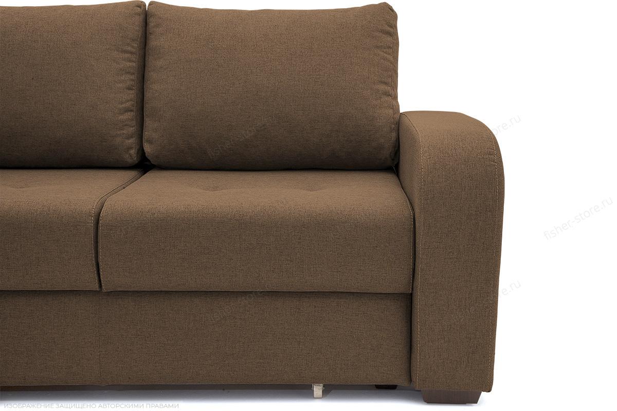 Прямой диван Селена Рогожка Dream Brown Ножки