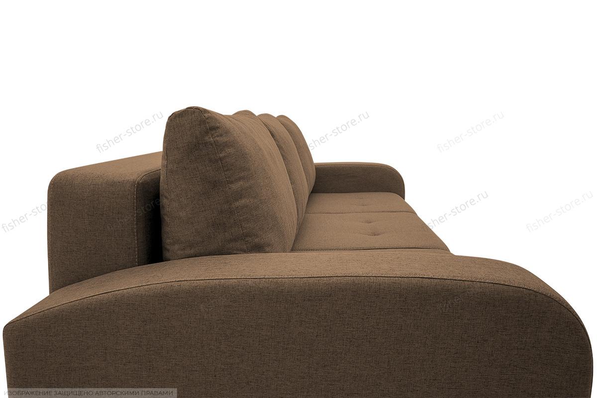 Прямой диван Селена Рогожка Dream Brown Подушки