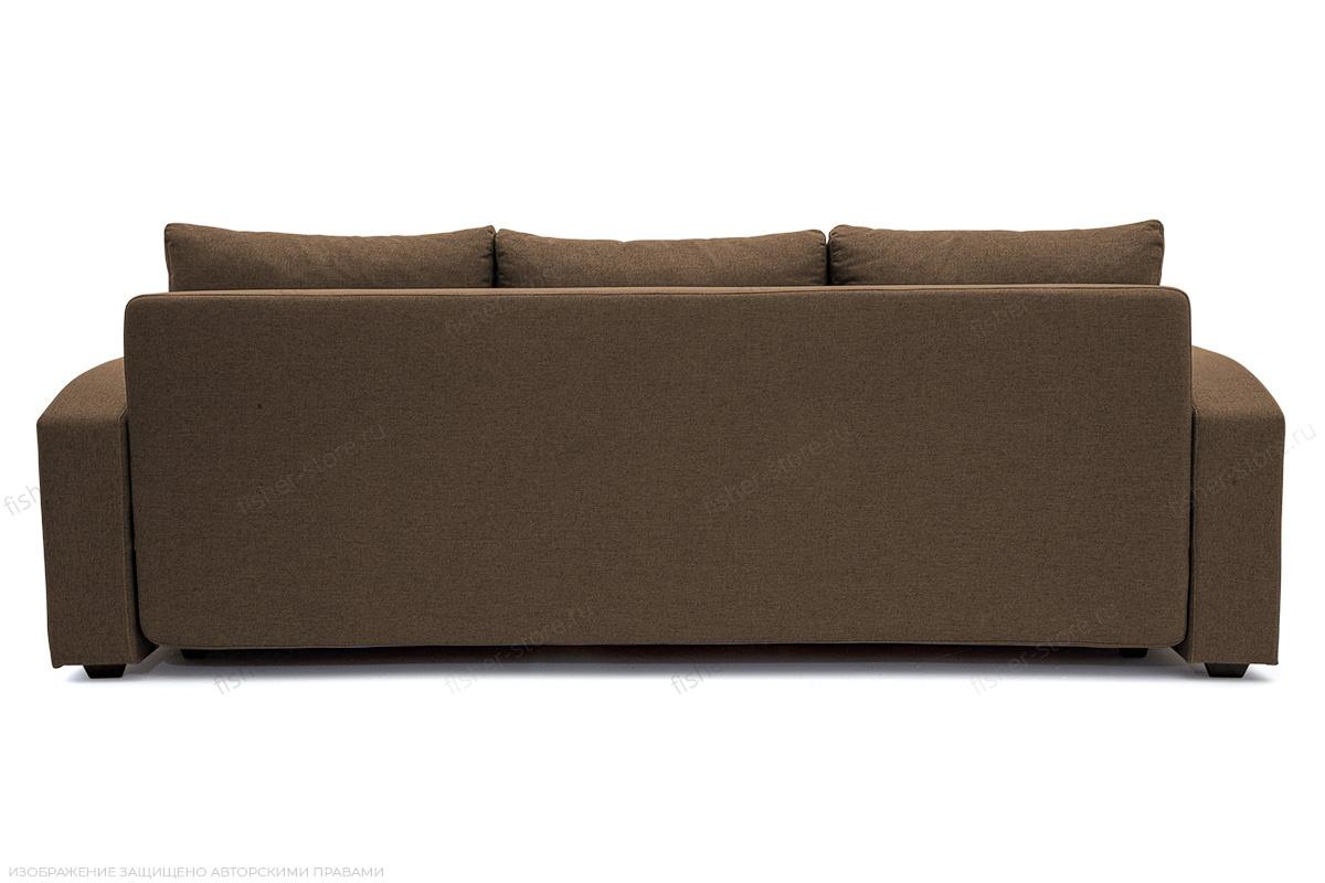 Прямой диван Селена Рогожка Dream Brown Вид сзади