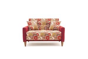 Прямой диван Этро люкс с опорой №5 History Summer + Orion Red Вид спереди