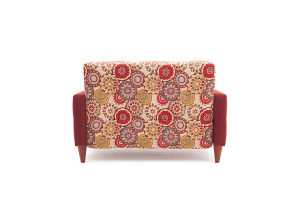 Прямой диван Этро люкс с опорой №5 History Summer + Orion Red Вид сзади
