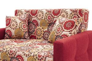 Прямой диван Этро люкс с опорой №5 History Summer + Orion Red Подушки