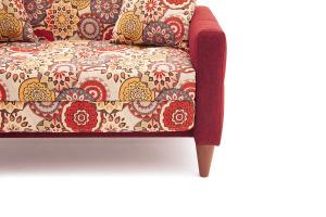 Прямой диван Этро люкс с опорой №5 History Summer + Orion Red Ножки