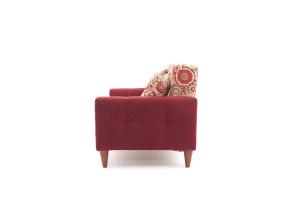 Прямой диван Этро люкс с опорой №5 History Summer + Orion Red Вид сбоку