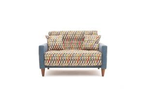 Прямой диван Этро люкс с опорой №5 History Bricks + Orion Denim Вид спереди