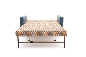 Прямой диван Этро люкс с опорой №5 History Bricks + Orion Denim Спальное место