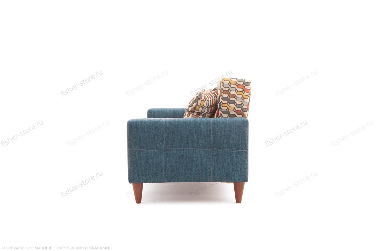 Прямой диван Этро люкс с опорой №5 History Bricks + Orion Denim Вид сбоку