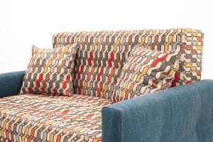 Прямой диван Этро люкс с опорой №5 History Bricks + Orion Denim Подушки