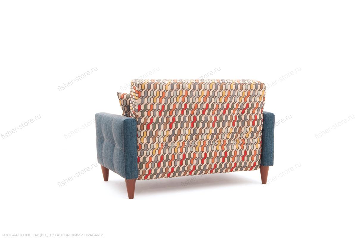 Прямой диван Этро люкс с опорой №5 History Bricks + Orion Denim Вид сзади